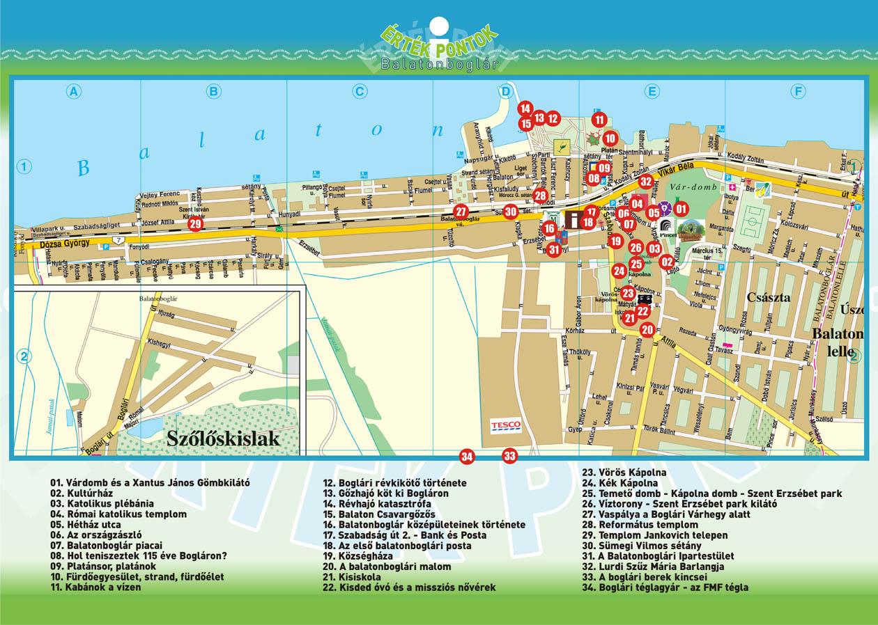 balatonboglár térkép Balatonboglár, ahogyan mi szeretjük   ÉrtékPontok   BoglárMászka balatonboglár térkép